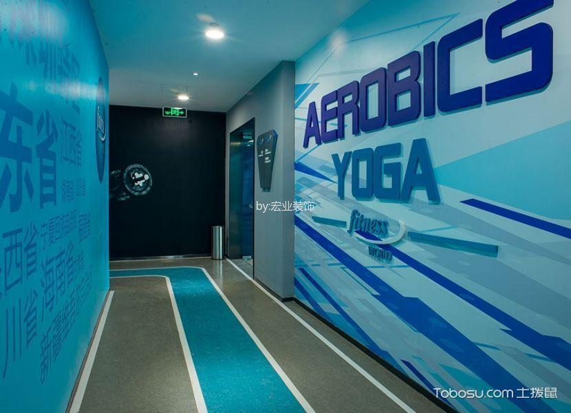 健身房走廊装饰实景图