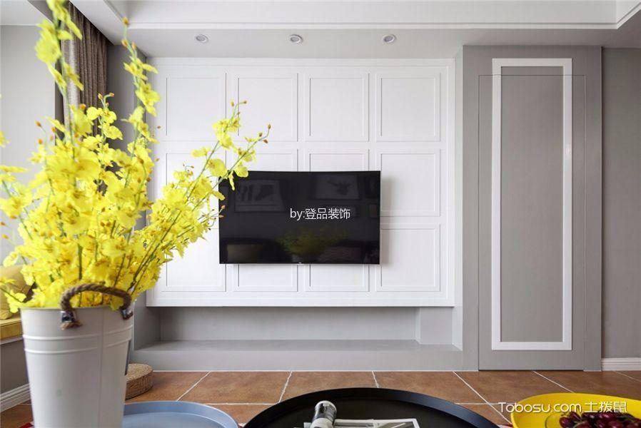 客厅咖啡色地砖北欧风格装修设计图片