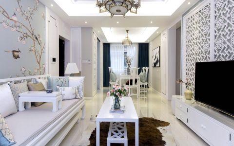 新中式风格120平米大户型室内装修效果图