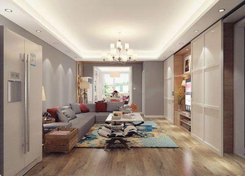 简约风格120平米套房室内装修效果图