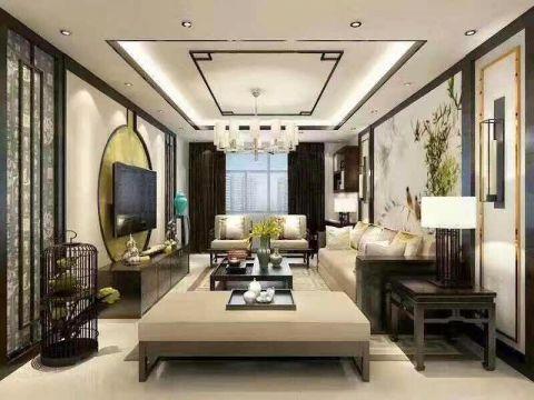 120平新中式风格三居室装修样板间