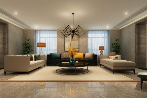 现代简约风格400平米别墅室内装修效果图