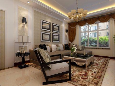 新古典风格150平米大户型室内装修效果图