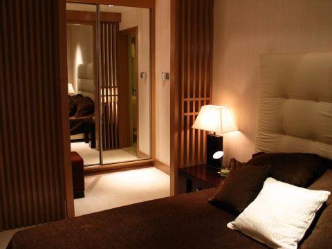 卧室隔断中式风格装潢效果图