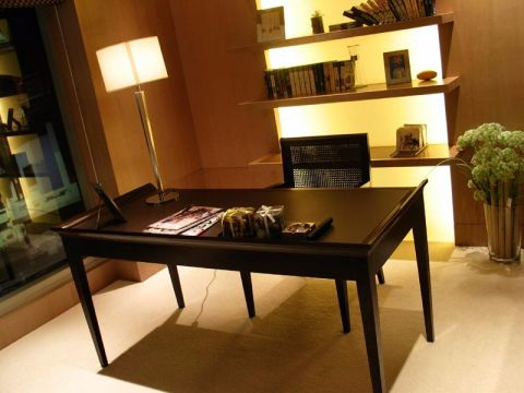 书房书桌中式风格装修设计图片