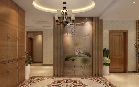玄关吊顶新中式风格装潢设计图片