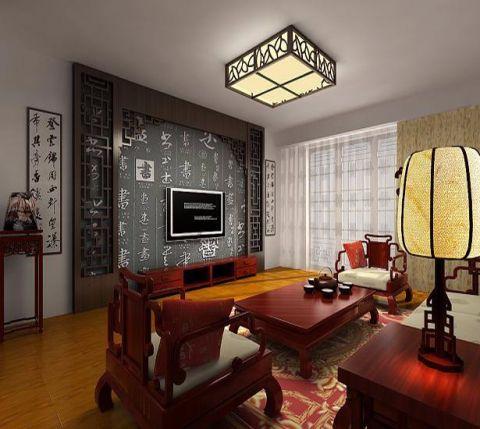 客厅电视柜中式风格效果图
