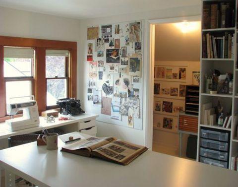 书房书桌田园风格装修图片