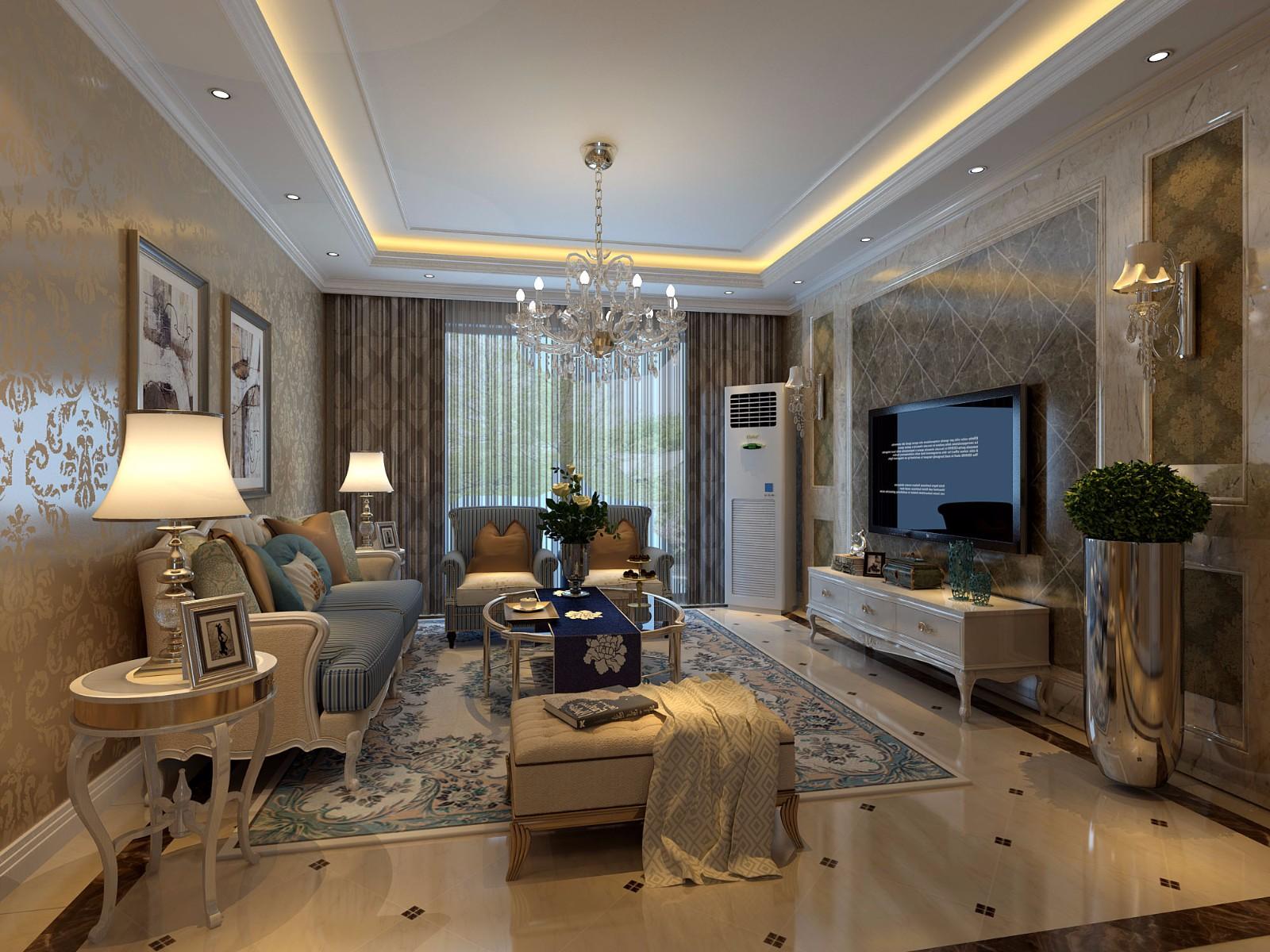 3室1卫2厅125平米简欧风格