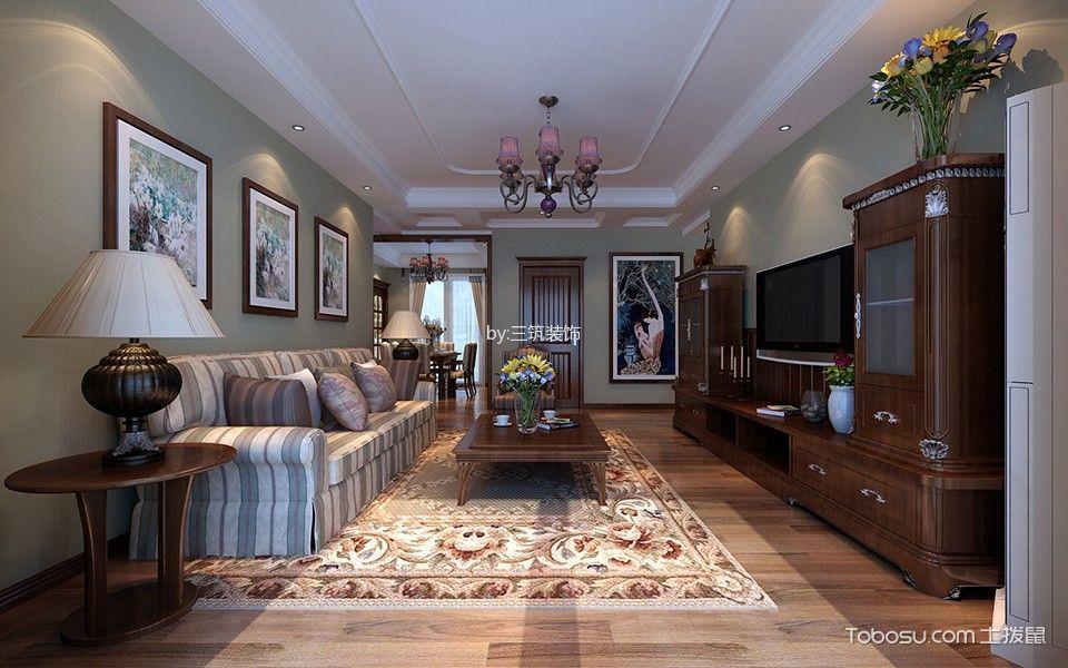 中式风格120平米三室两厅新房装修效果图