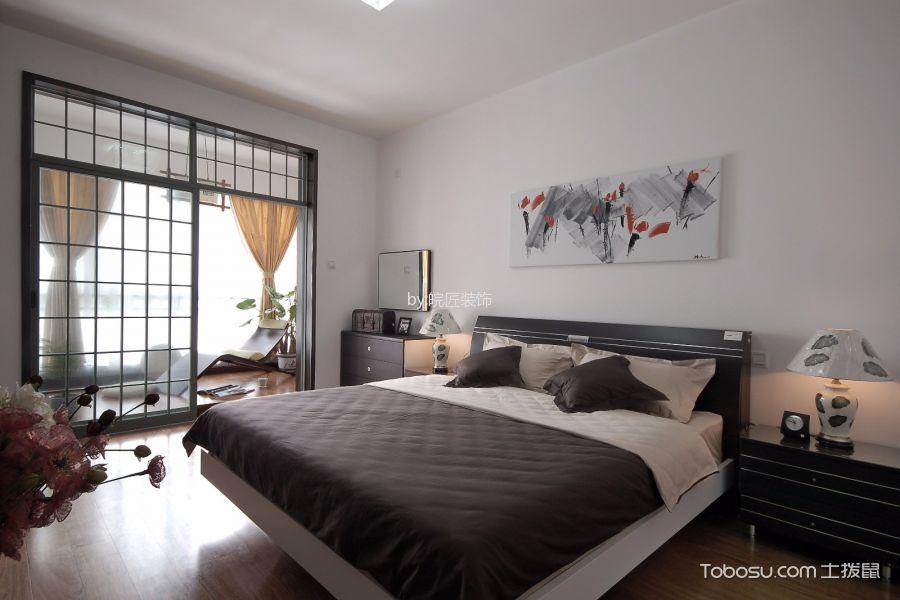 卧室黑色床简中风格装潢效果图