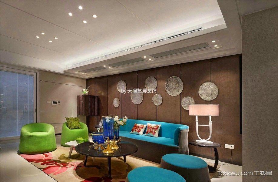 现代风格150平米三室两厅新房装修效果图