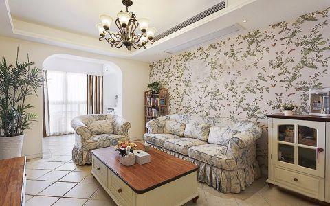 田园风格80平米公寓室内装修效果图