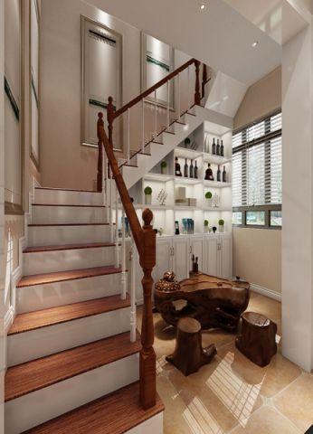 客厅楼梯混搭风格装修效果图