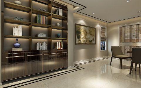 客厅博古架现代简约风格装潢图片