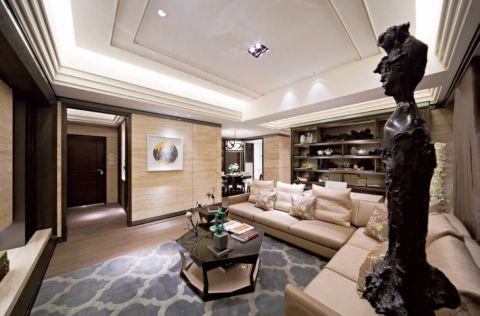 客厅黑色茶几欧式风格装饰图片