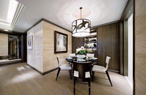 餐厅黑色地板砖欧式风格装潢图片