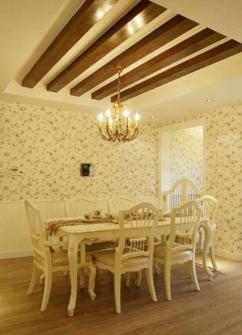 餐厅白色韩式风格装饰设计图片