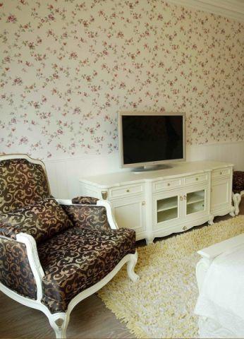 卧室白色电视柜韩式风格装修效果图