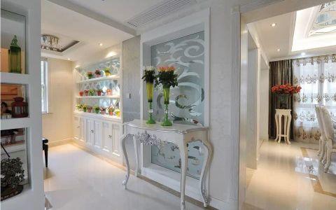 玄关白色地砖欧式风格装饰设计图片