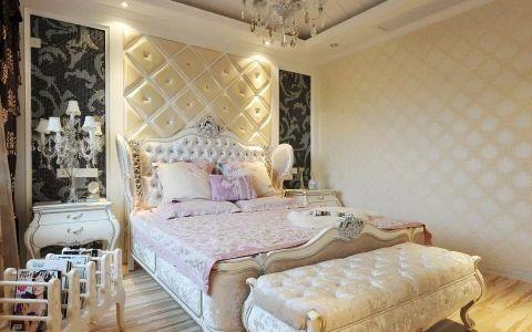 卧室白色床头柜欧式风格装潢设计图片