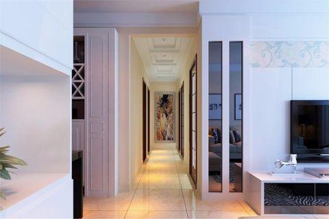 客厅白色电视柜现代简约风格装饰效果图