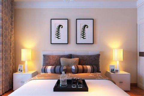 卧室床头柜现代简约风格装潢效果图