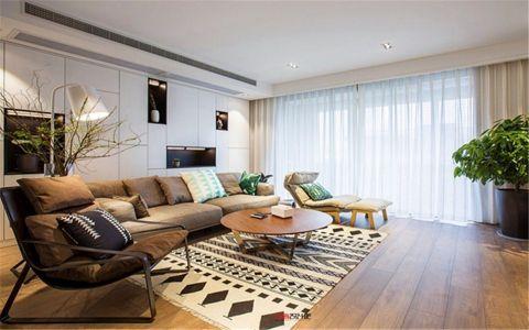 现代简约风格155平米大户型室内装修效果图