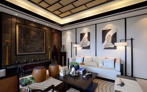 新中式风格250平米别墅新房装修效果图