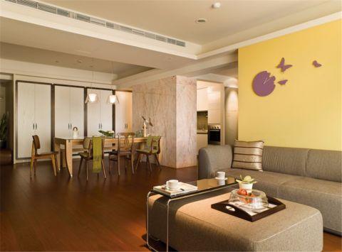 现代简约风格80平米三室两厅室内装修效果图