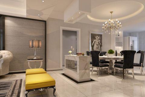 客厅隔断新古典风格装潢效果图