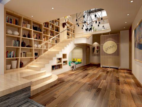 书房楼梯日式风格装饰设计图片