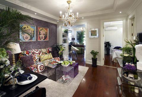 混搭风格60平米小户型室内装修效果图