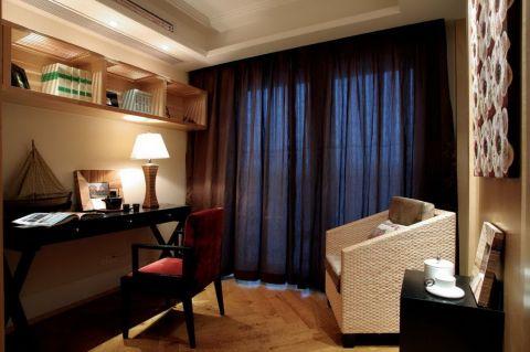 书房窗帘东南亚风格装饰效果图