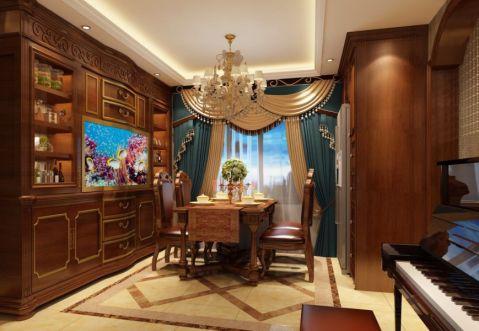 餐厅餐桌欧式风格装饰效果图