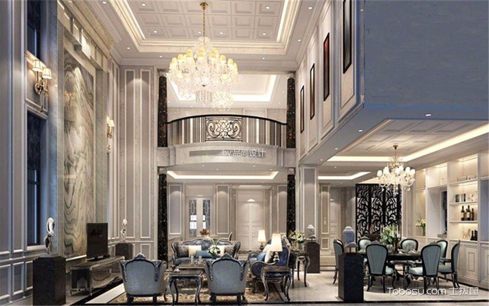 保利林语260平米欧式风格别墅装修效果图