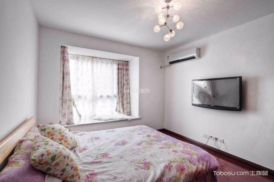卧室白色飘窗混搭风格装饰图片