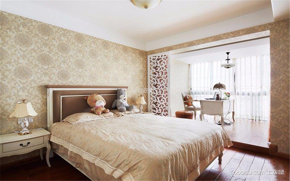 卧室白色床头柜美式风格装饰效果图
