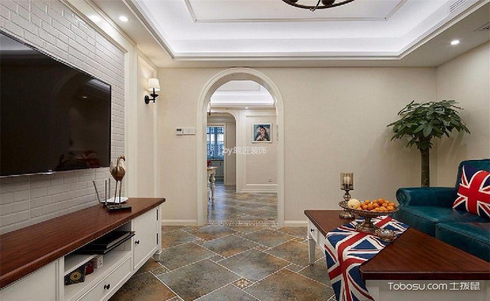 客厅白色电视柜美式风格效果图