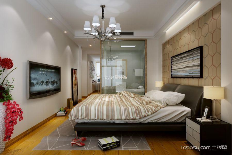 卧室白色床头柜现代简约风格装饰效果图