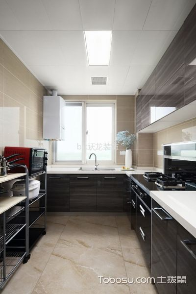 厨房白色吊顶混搭风格装饰图片