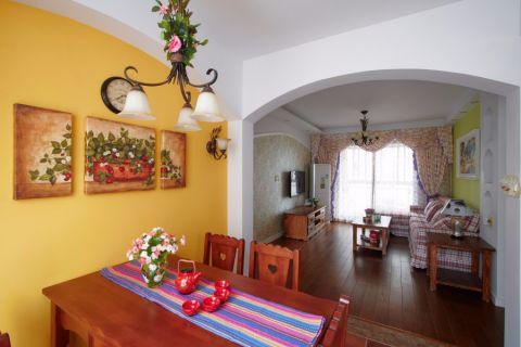 田园风格100平米三室两厅新房装修效果图