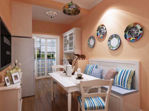 欧式田园风格60平米公寓室内装修效果图