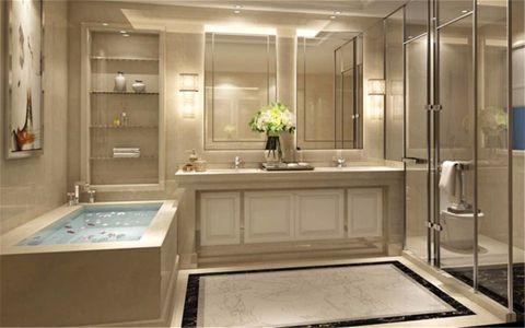 浴室浴缸欧式风格装修设计图片