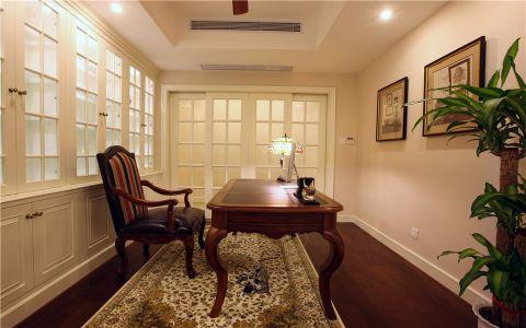 书房书桌美式风格装饰设计图片