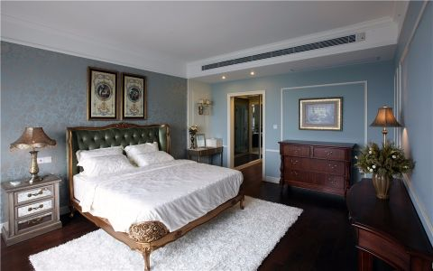 卧室照片墙美式风格装潢设计图片