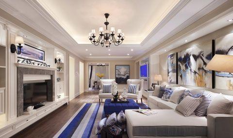 现代欧式风格140平米大户型室内装修效果图