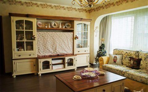 美式风格90平米三室两厅新房装修效果图
