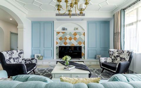 客厅窗帘地中海风格装饰设计图片