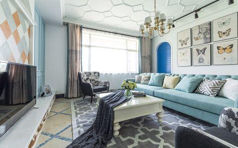 地中海风格120平米公寓室内装修效果图